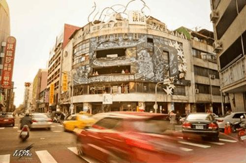 faceoff外觀有著比利時藝術家的壁畫創作
