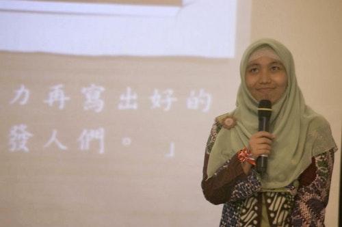 Photo Credit: Nanik Riyati於第一屆移民工文學獎頒獎典禮