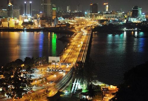 SINGAPORE - JOHOR-SINGAPORE CAUSEWAY AT WOODLANDS