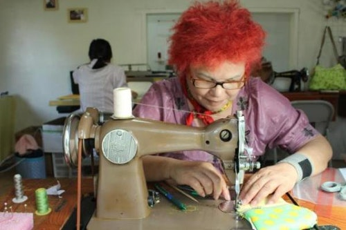 ▲圖說:在台灣水色縫紉的媽媽張美美