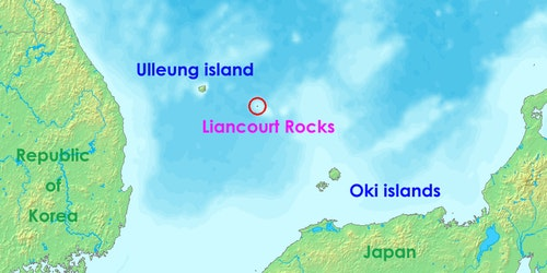 竹島 獨島 Location-of-Liancourt-rocks-en