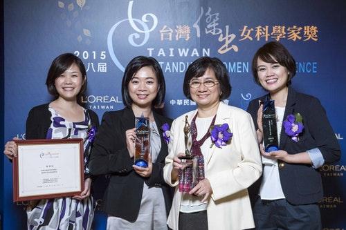 圖2_ 第八屆台灣傑出女科學家獎記者會_所有得主女科學家