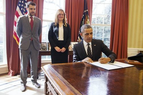 Barack Obama, Brian Deese, Kate Brandt