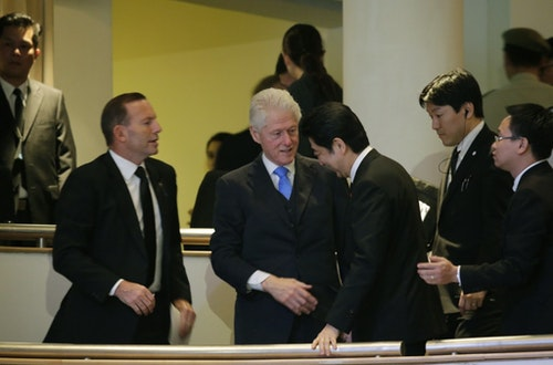 Shinzo Abe, Bill CLinton, Tony Abbott