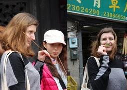 來自法國巴黎的女孩Aurore,相當專注於氣味導覽的體驗。