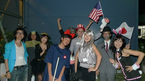 Share House residents holding a Halloween party. Photo Credit: Classicompany TokyoStay