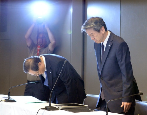 JAPAN-TOSHIBA-PRESIDENT-RESIGNATION