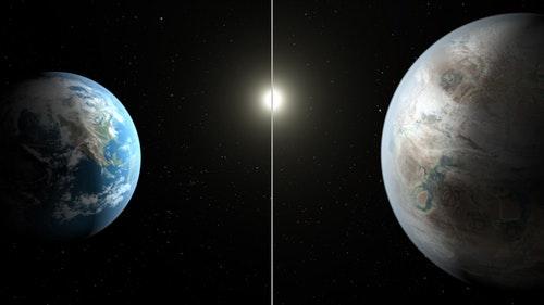 地球2.0, 比地球大60%,質量是5倍多。Photo Credit: NASA