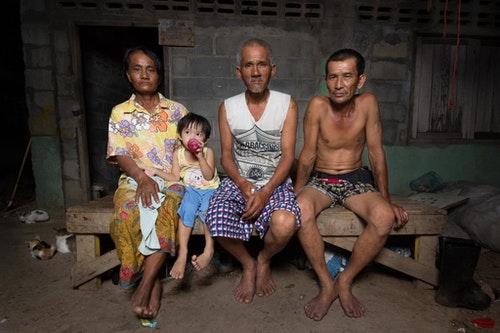 皮克大叔和他的家人。