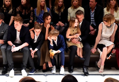 Front row at the Burberry _London In Los Angeles_ event