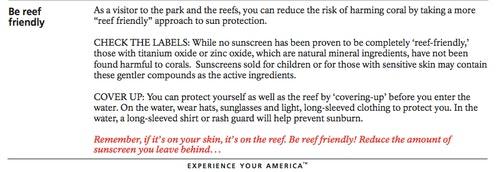 美國國家公園管理局建議如何保護珊瑚,提升環保意識。Photo Credit: National Park Service