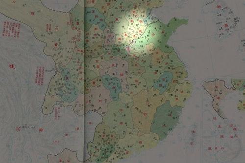魏博鎮的位置。改作自Wikipedia