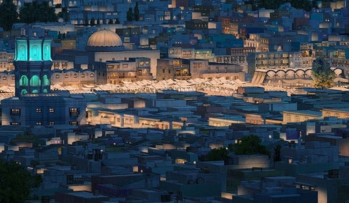澀天街的中東城市景致。