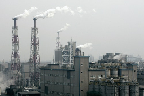 A petrochemical factory is seen in Taiwan's northern Taoyuan county