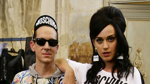 Moschino創意總監Jeremy Scott和美國樂壇流行天后凱蒂佩芮交情好