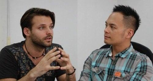 Martin Talvari and Jamie Lin. Photo Credit: The News Lens關鍵評論網