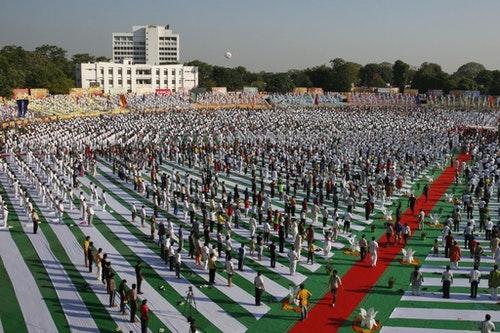 2015年舉辦的國際瑜珈日。Photo Credit:AP/達志影像