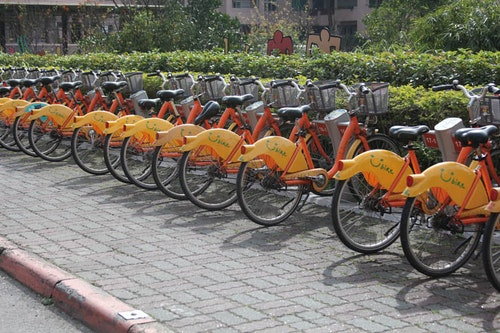 Taipei City's YouBike system was used 60 million times in 2015. Photo Credit: Joshua Samuel Brown