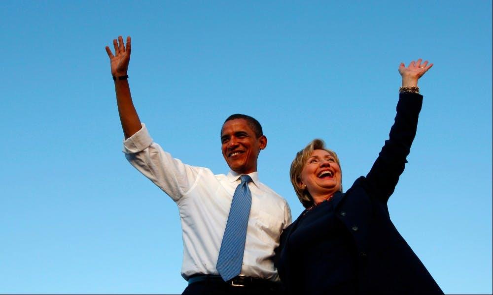 希拉蕊與歐巴馬