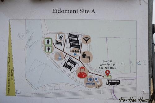 Idomeni營區地圖