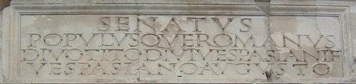 Arch_of_Titus-Inscription