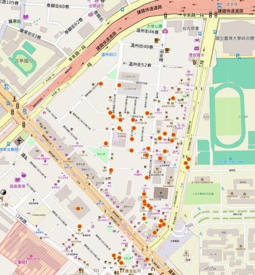 羅斯福路、辛亥路和新生南路所圍成的三角區域