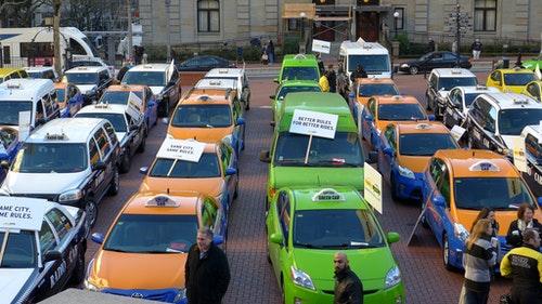 波特蘭 計程車 UBER 抗議
