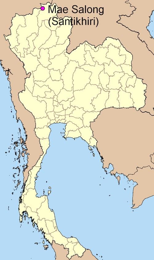 泰國 美斯樂 Map of Mae Salong (แม่สลอง) aka Santikhiri, Thailand
