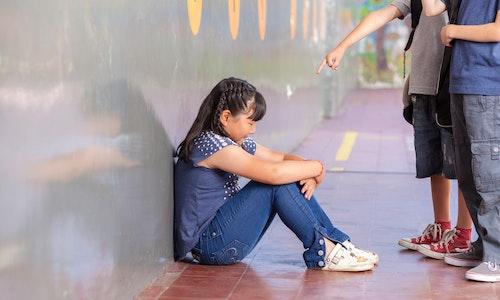 霸凌 School bullying. Multiracial class.