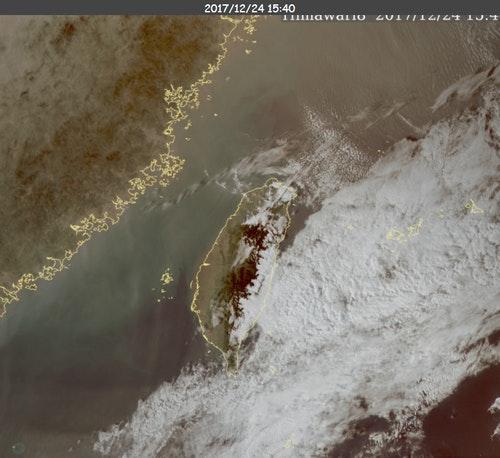 衛星雲圖(20171224)