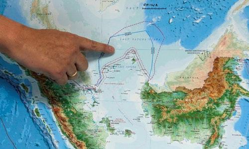 印尼,北納土納海,南海,中國