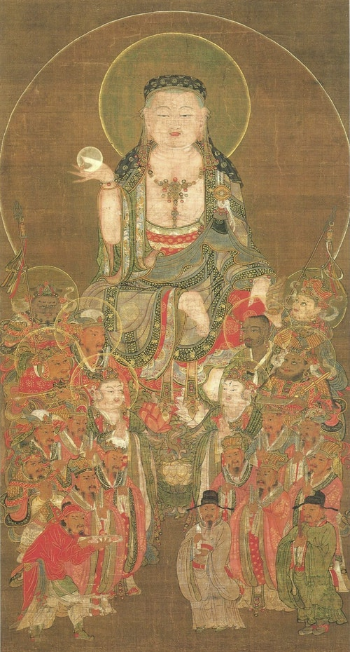 Ksitigarbha_with_the_Ten_Kings_of_Hell_(