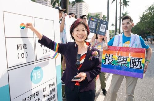 尤美女, 同志大遊行,公投