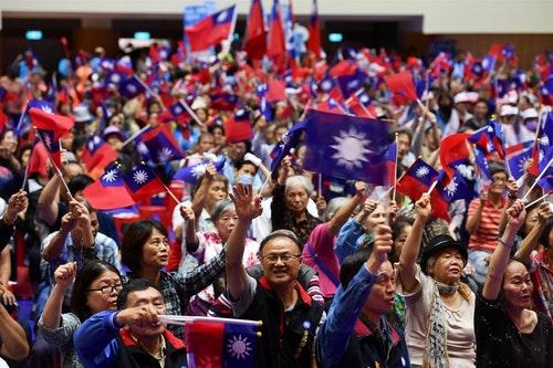 國民黨支持者選舉造勢會