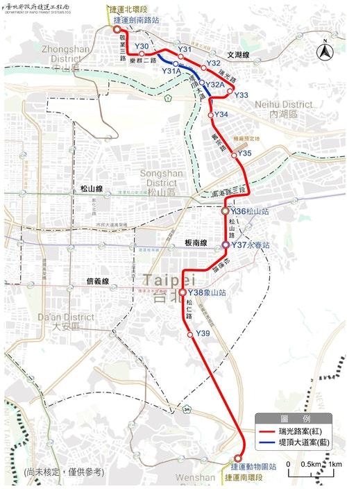 東環段路線示意圖