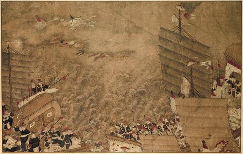 Een_zeeslag_tussen_Japanse_zeerovers_en_