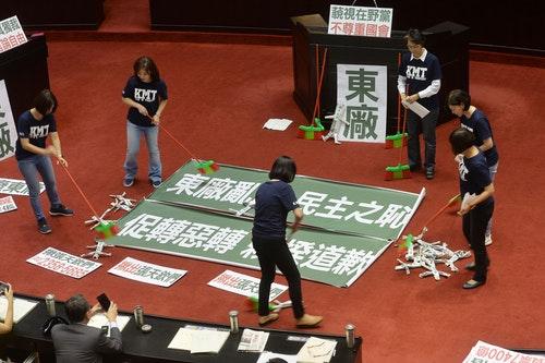 國民黨杯葛議事抗議促轉會