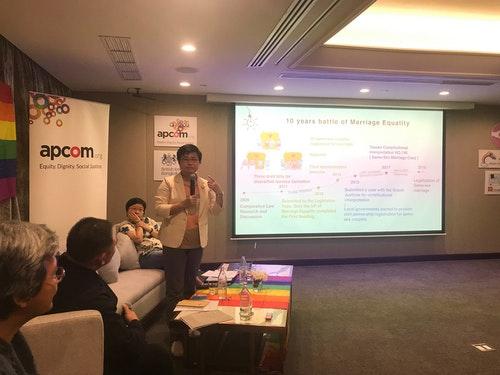 伴侶盟代表在曼谷分享台灣經驗