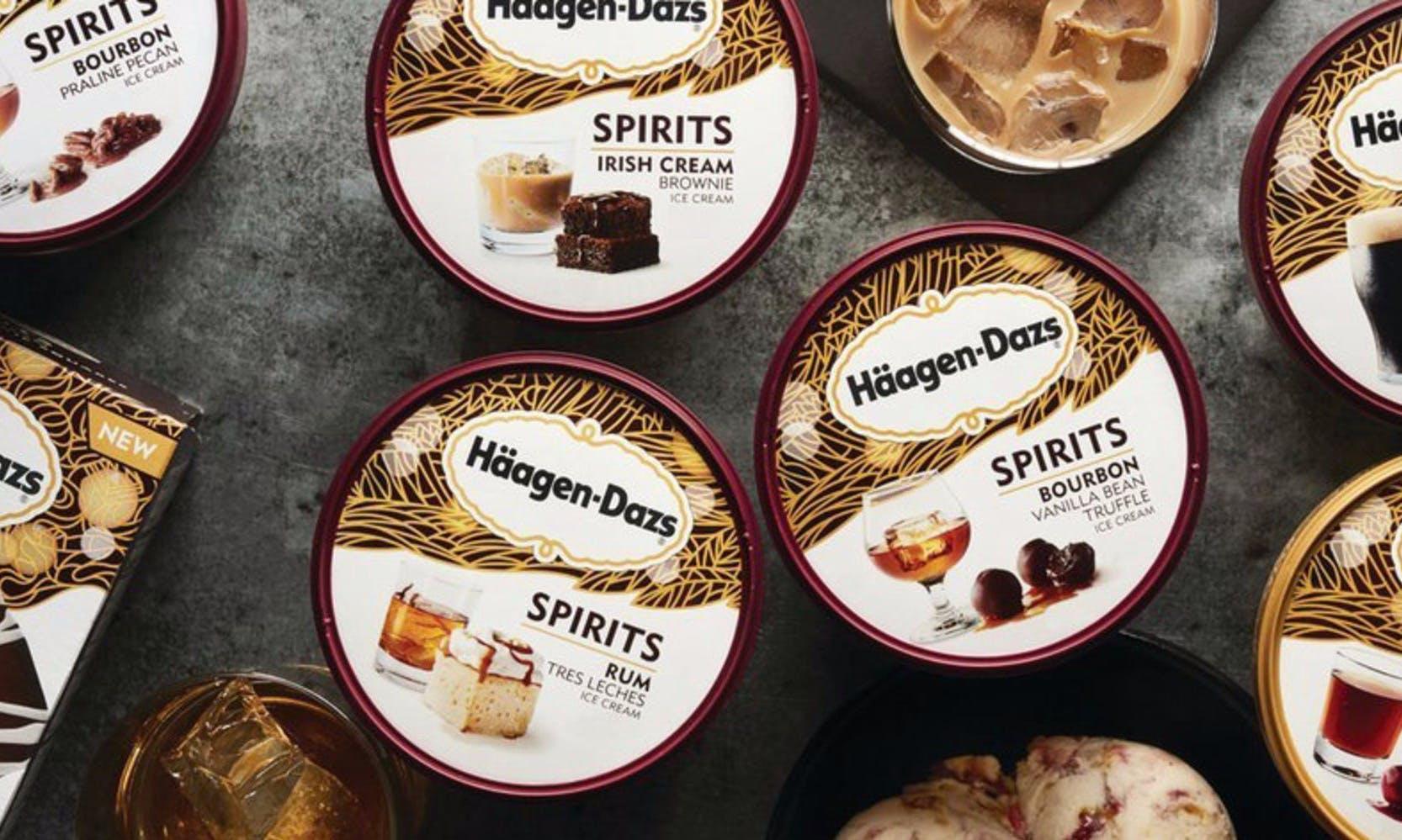 波本、奶酒、黑啤酒:Häagen-Dazs推出7款大人最愛的「烈酒冰淇淋」