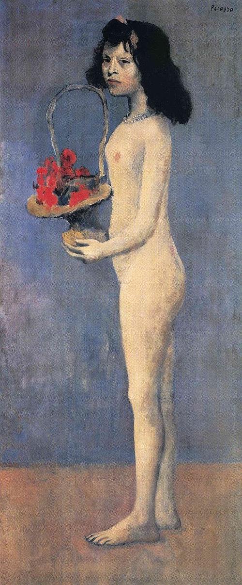 496px-Pablo_Picasso,_1905,_Fillette_nue_