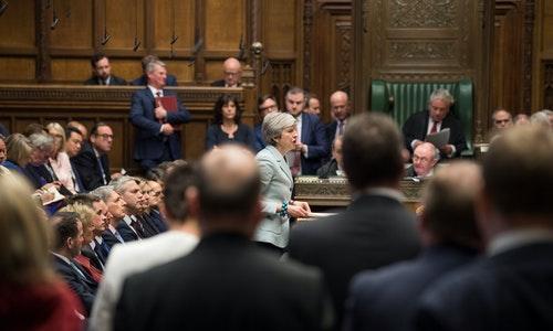 英國國會首相梅伊脫歐