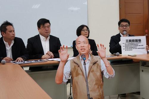 傳韓請長假拚選舉  綠議員促變更議程先質詢