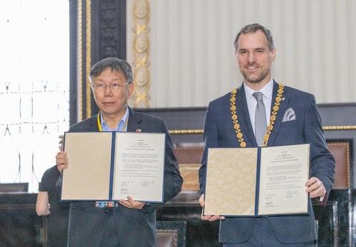 台北與布拉格締結為姊妹市