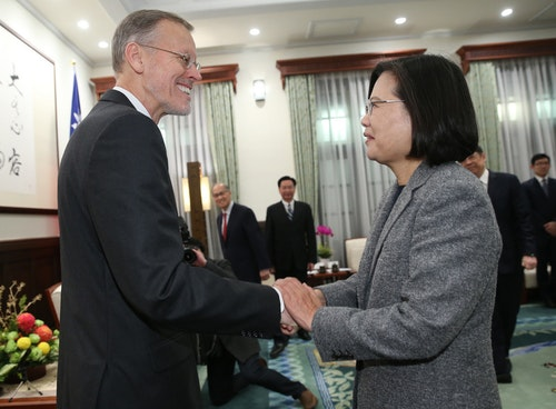 蔡總統連任後首個行程 接見AIT處長