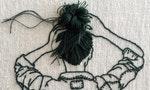 一針一線完整重現女孩的自然姿態與髮絲:刺繡藝術家Sheena Liam