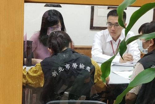 新北市府派員赴康軒總公司勞檢(2)