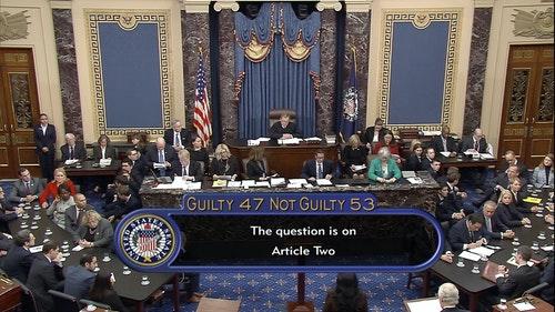 川普彈劾案美國國會參議院參院審理表決