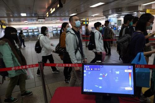 北捷台北車站試辦偵測乘客體溫