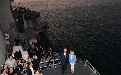 以色列總理納坦雅胡2018年造訪阿什杜德港