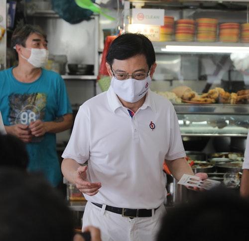 新加坡副總理王瑞杰赴東海岸集選區拉票